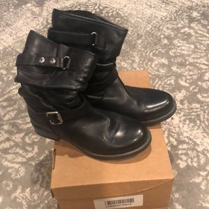 Eric Michael  black slouch boots